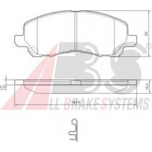 A.B.S. 37202 Комплект тормозных колодок, дисковый тормоз Крайслер Себринг