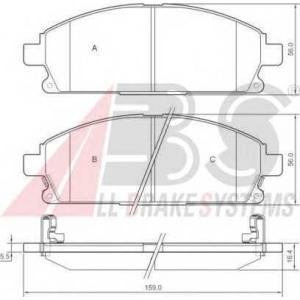 A.B.S. 37209 Колодка торм. NISSAN PATHFINDER (R50) передн. (пр-во ABS)