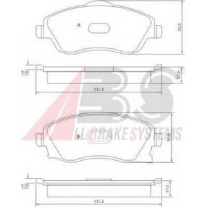 A.B.S. 37213 Комплект тормозных колодок, дисковый тормоз Опель Тигра