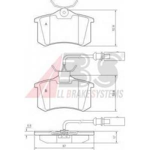 A.B.S. 37214 Колодка торм. FORD/SEAT/VW GALAXY/ALHAMBRA/SHARAN задн. (пр-во ABS)