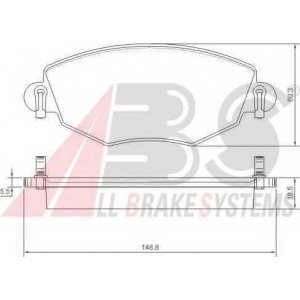 A.B.S. 37215 Комплект тормозных колодок, дисковый тормоз Ягуар Икс Тайп