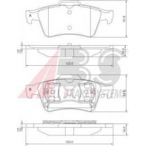 A.B.S. 37216 Комплект тормозных колодок, дисковый тормоз Мазда 3
