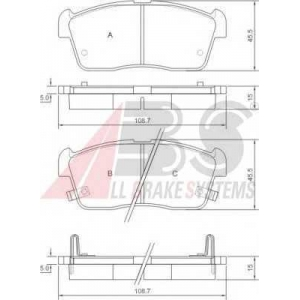 A.B.S. 37222 Комплект тормозных колодок, дисковый тормоз Дайхатсу