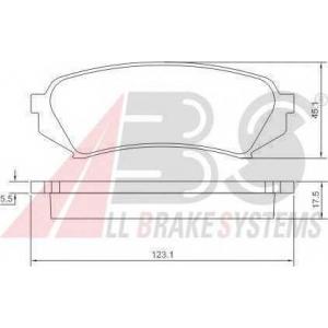 A.B.S. 37226 Комплект тормозных колодок, дисковый тормоз Лексус Л-Икс