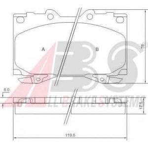 A.B.S. 37231 Комплект тормозных колодок, дисковый тормоз Лексус Л-Икс