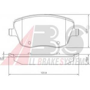 A.B.S. 37241 Колодка торм. SEAT/SKODA IBIZA/FABIA передн. (1-й сорт)(пр-во ABS)