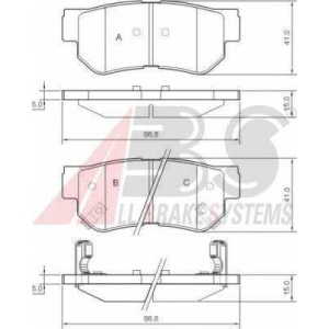 A.B.S. 37247 Комплект тормозных колодок, дисковый тормоз Хюндай Туксон