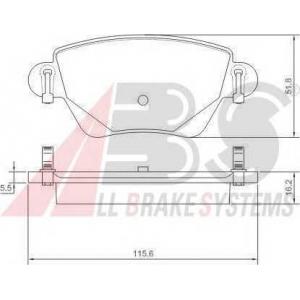 A.B.S. 37254 Комплект тормозных колодок, дисковый тормоз Ягуар Икс Тайп