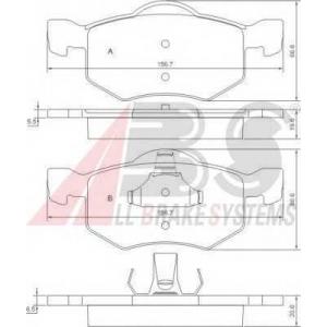 A.B.S. 37255 Комплект тормозных колодок, дисковый тормоз Мазда Трибут