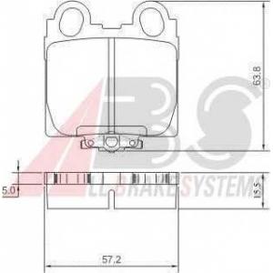 A.B.S. 37258 Комплект тормозных колодок, дисковый тормоз Лексус Ай-Ес