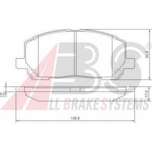 A.B.S. 37260 Колодка торм. LEXUS RX 300 передн. (пр-во ABS)