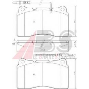 A.B.S. 37271 Комплект тормозных колодок, дисковый тормоз Ситроен C8