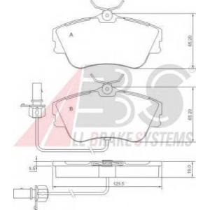 A.B.S. 37274 Колодка торм. VW T4 передн. (пр-во ABS)