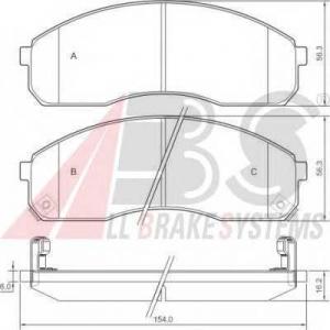 A.B.S. 37275 Комплект тормозных колодок, дисковый тормоз Киа Карнивал
