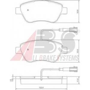 A.B.S. 37280 Комплект тормозных колодок, дисковый тормоз Фиат