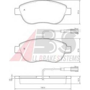 A.B.S. 37282 Колодка торм. FIAT STILO передн. (пр-во ABS)
