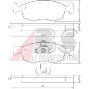 A.B.S. 37286 Колодка торм. FIAT DOBLO/DOBLO CARGO передн. (пр-во ABS)