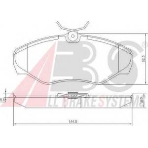 A.B.S. 37287 Колодка торм. NISSAN/OPEL/RENAULT PRIMASTAR/VIVARO/TRAFIC передн. (пр-во ABS)