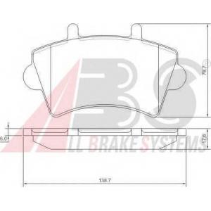 A.B.S. 37290 Колодка торм. OPEL/RENAULT MOVANO/MASTER передн. (пр-во ABS)