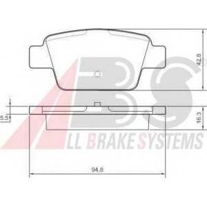 A.B.S. 37291 Комплект тормозных колодок, дисковый тормоз Фиат Мултипла