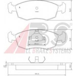 A.B.S. 37292 Комплект тормозных колодок, дисковый тормоз Фиат Страда