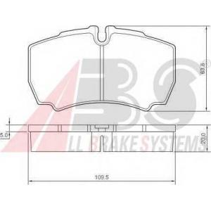 Комплект тормозных колодок, дисковый тормоз 37298 abs - IVECO DAILY IV автобус автобус 35S14, 35S14 /P