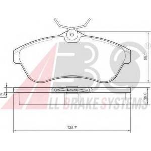 A.B.S. 37308 Комплект тормозных колодок, дисковый тормоз Ситроен С3 Плюриель