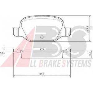 A.B.S. 37311 Комплект тормозных колодок, дисковый тормоз Фиат 500