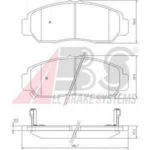 A.B.S. 37312 Комплект тормозных колодок, дисковый тормоз Хонда Фрв
