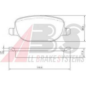 ABS 37317 Комплект тормозных колодок, дисковый тормоз
