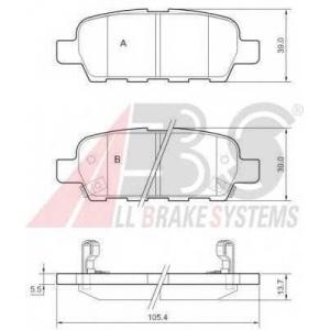 A.B.S. 37321 Комплект тормозных колодок, дисковый тормоз Инфинити Джи