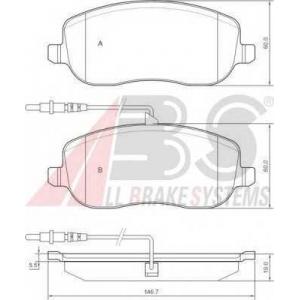 A.B.S. 37329 Комплект тормозных колодок, дисковый тормоз Ситроен C8