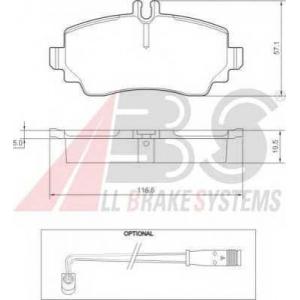 A.B.S. 37336 Комплект тормозных колодок, дисковый тормоз Мерседес Ванео