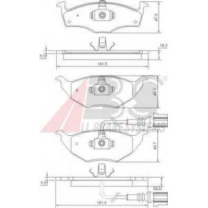 A.B.S. 37345 Комплект тормозных колодок, дисковый тормоз Ауди А2