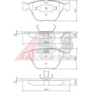 A.B.S. 37346 Комплект тормозных колодок, дисковый тормоз Бмв 6