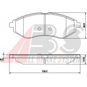 A.B.S. 37352 Колодка торм. CHEVROLET AVEO передн. (пр-во ABS)