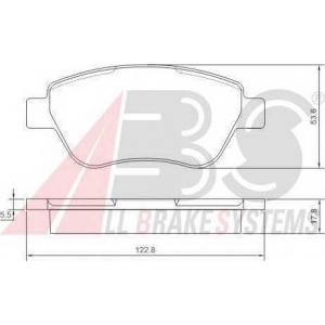 A.B.S. 37360 Комплект тормозных колодок, дисковый тормоз Фиат Албеа