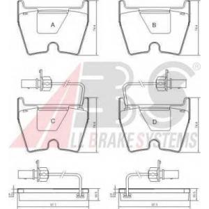 A.B.S. 37367 Комплект тормозных колодок, дисковый тормоз Ауди Р8 Спайдер