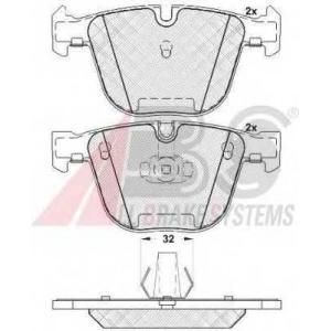 A.B.S. 37371 Комплект тормозных колодок, дисковый тормоз Бмв Х6