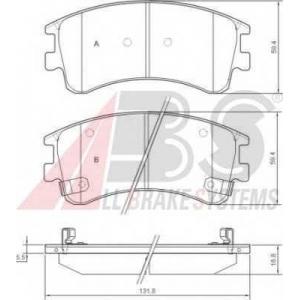 A.B.S. 37381 Комплект тормозных колодок, дисковый тормоз Мазда 6