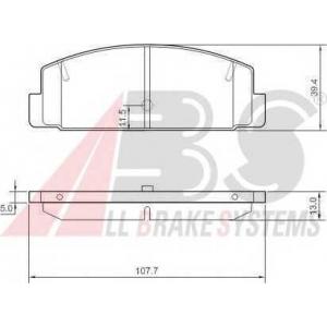 A.B.S. 37382 Комплект тормозных колодок, дисковый тормоз Мазда 6