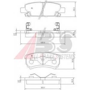 A.B.S. 37384 Комплект тормозных колодок, дисковый тормоз Крайслер Себринг