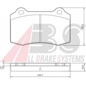 A.B.S. 37388 Комплект тормозных колодок, дисковый тормоз Крайслер 300
