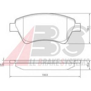 A.B.S. 37397 Колодка торм. RENAULT KANGOO/MEGANE передн. (пр-во ABS)