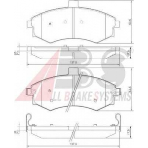 A.B.S. 37403 Комплект тормозных колодок, дисковый тормоз Хюндай Купе