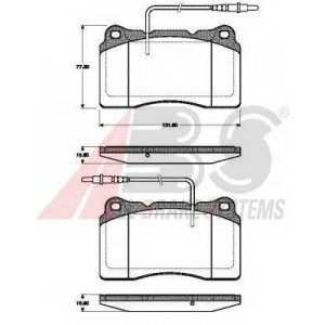 ABS 37408 Колодки дисковые Citroen/Fiat/Peugeot C8/Ulysse/807 3.0 V6 (F) 02-*