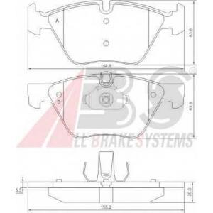 A.B.S. 37409 Комплект тормозных колодок, дисковый тормоз Бмв Х1
