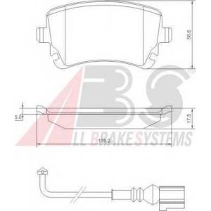A.B.S. 37413 Колодка торм. VW T5 задн. (пр-во ABS)