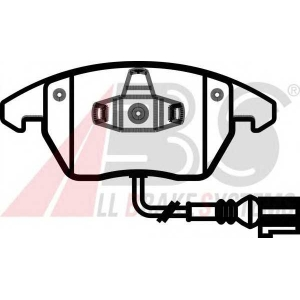 A.B.S. 37414 Колодка торм. AUDI/VW A3/GOLF/TOURAN передн. (пр-во ABS)