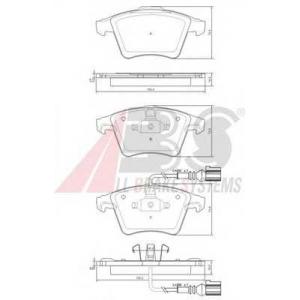 A.B.S. 37416 Колодка торм. VW T5 16\ передн. (пр-во ABS)